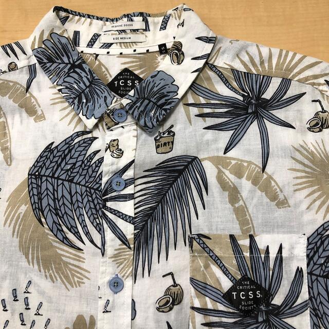 Ron Herman(ロンハーマン)のTCSS   半袖ボタンシャツ M メンズのトップス(Tシャツ/カットソー(半袖/袖なし))の商品写真