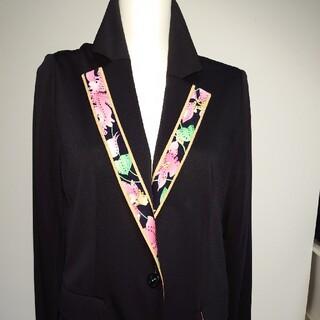 LEONARD - 美品、レオナールの美しいシルエットのストレッチ、ジャケット。サイズ42。LL。