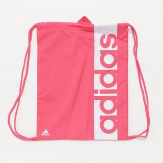 アディダス(adidas)のアディダス ジムサック  ピンク リニアロゴ(リュック/バックパック)