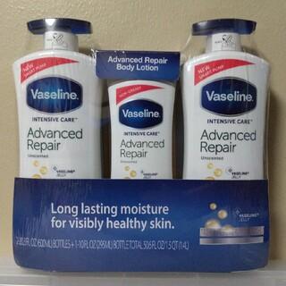 ヴァセリン(Vaseline)のヴァセリン アドバンスドリペア ボディローション 3本セット  保湿クリーム (ボディローション/ミルク)