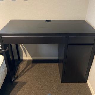 イケア(IKEA)のIKEA MICKE ミッケ デスク ブラックブラウン(学習机)