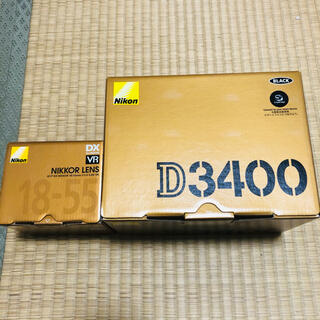 Nikon - 【新品】Nikon D3400BK + ズームレンズ ボディレンズセット
