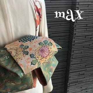 正絹 兵児帯 1189 半幅帯 ハンドメイド 大人用 MAX(帯)