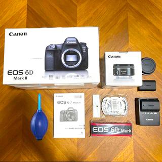 Canon - キャノン美品:canon eos 6D MarkⅡと50mm f1.8レンズ付き