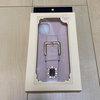 Maison de FLEUR - メゾンドフルール ビジューバックルベルトiPhoneケース11