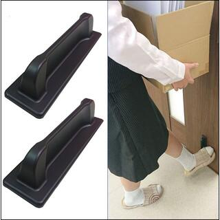 引き戸フットオープナー【ごめんあそばせ】ロングタイプ2個 足でドアを開けられる(店舗用品)