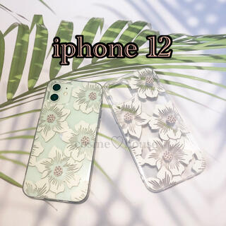 限定1個 花柄 iphoneケース クリアケース ソフトケース(iPhoneケース)