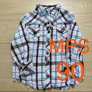 エムピーエス(MPS)のライトオン MPS チェック シャツ 長袖シャツ ブラウス 女の子 90(ブラウス)
