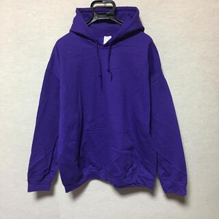 ギルタン(GILDAN)の新品 GILDAN ギルダン カブリパーカー パープル 紫 XL(パーカー)
