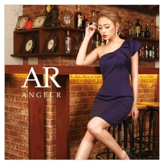 AngelR - タイトミニドレス パープル