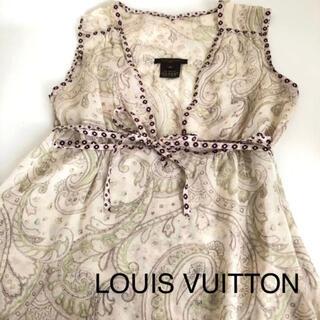 ルイヴィトン(LOUIS VUITTON)の美品 LOUIS  VUITTON トップス size36 ペイズリー柄(シャツ/ブラウス(半袖/袖なし))
