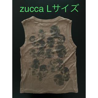 ズッカ(ZUCCa)のzucca ズッカ タンクトップ ノースリーブ Lサイズ 骸骨 髑髏 ドクロ(タンクトップ)