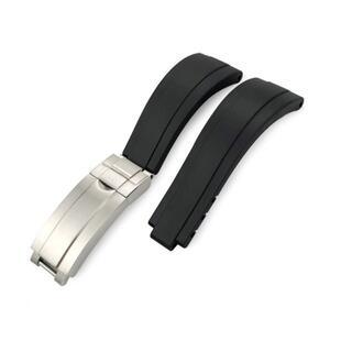 新品 ラバー時計ベルト ロレックス対応 ブラック  社外品