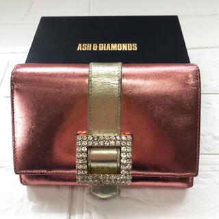 アッシュアンドダイアモンド(ASH&DIAMONDS)の【ASH&DIAMONDS アッシュアンドダイヤモンド】中古 2つ折り財布(財布)