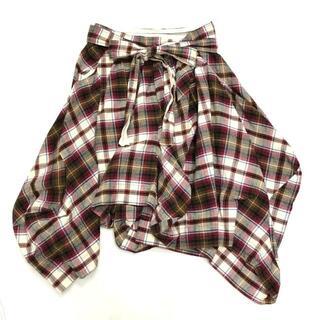 Vivienne Westwood - ヴィヴィアンウエストウッド チェック リボン 変形 スカート 1