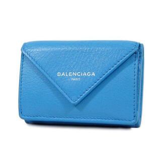 バレンシアガ(Balenciaga)のバレンシアガ ペーパーミニウォレット 三つ折り財布 ブルークレール J2842(財布)