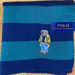 ポロラルフローレン(POLO RALPH LAUREN)のポロラルフローレン ハンカチグリーンxネイビー(ハンカチ)