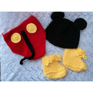 ディズニー(Disney)のニューボーンフォト 新生児 ミッキー衣装(その他)