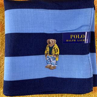 ポロラルフローレン(POLO RALPH LAUREN)の  ポロラルフローレン ハンカチブルーxネイビー(ハンカチ)