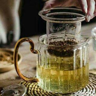 400ML急須 ケットル やかん ガラス瓶ティーポット耐熱ガラス 茶こしU(食器)