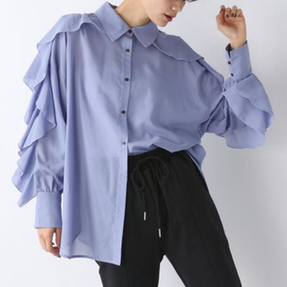 JEANASIS - 2021年春夏 新品 完売カラー ジーナシス  リッチフリルスリーブシャツ