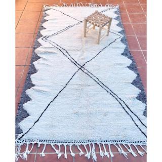 モロッコ ベニワレン ザナフィ ラグ カーペット 絨毯 プフ クッション(ラグ)