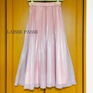 LAISSE PASSE - LAISSE PASSE レッセパッセ プリーツスカート ピンク 新品