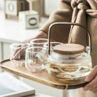 茶器 セット ティーポット耐熱ガラス茶漉しティーポット(食器)