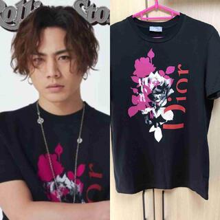 DIOR HOMME - 正規 登坂着 Dior Homme ディオールオム 薔薇 Tシャツ