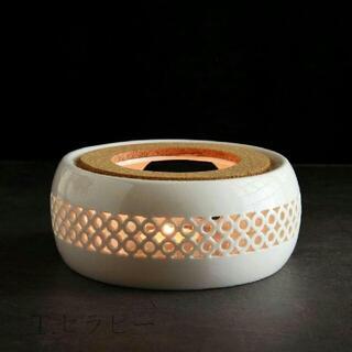 炉 ティーウォーマーキャンドルウォーマー ポットウォーマー(菱窓 白磁5(置物)