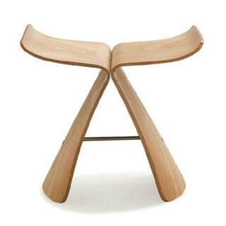ベージュ イス 椅子 バタフライスツール(座椅子)