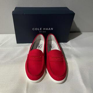 Cole Haan - 新品未使用COLE HAANコールハーンスリッポンデッキシューズ赤レディース旅行