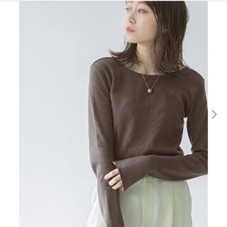 ノーブル(Noble)の【noble】ソフトコットンリブロングTシャツ(Tシャツ/カットソー(七分/長袖))