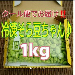 感謝セール‼️‼️産地直送‼️★クール便発送★『冷凍そら豆ちゃん♪』1kg (野菜)