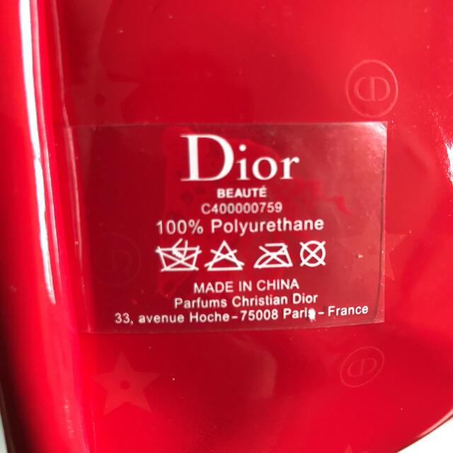 Dior(ディオール)の最新 ディオール ノベルティ ポーチ レッド 新品未使用正規品 レディースのファッション小物(ポーチ)の商品写真