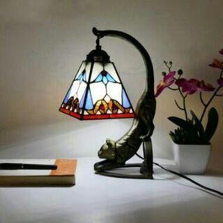 暖かい寝室のベッドサイドランプレトロスタディアート動物の小さなテーブルランプ6