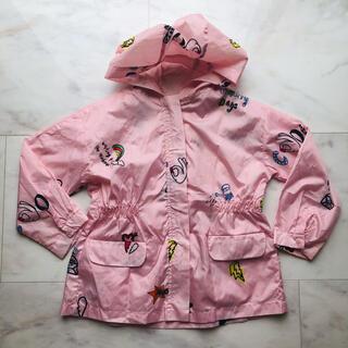 ザラ(ZARA)のザラガール レインコート かっぱ 収納袋付き ピンク ポップ柄 116(ジャケット/上着)