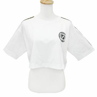 FENDI - フェンディ  半袖Tシャツ  ホワイトジャージー Tシャツ FAF114
