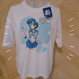 ジーユー(GU)のセーラームーン 25th セーラーマーキュリー 25周年 Tシャツ Mサイズ(キャラクターグッズ)