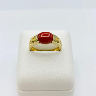 J3754 血赤珊瑚 天然珊瑚 赤珊瑚 紅珊瑚 土佐珊瑚指輪(リング(指輪))