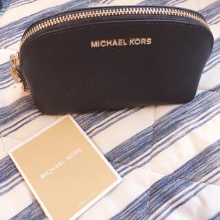 Michael Kors - MICHAEL KORS ネイビー ラウンドポーチ