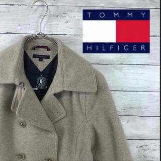 TOMMY HILFIGER - 90.s OLDトミーフィルガー オーブロゴ ベージュPコート