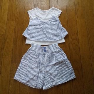 ジーユー(GU)のGU セットアップ 110cm(Tシャツ/カットソー)