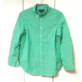 Ralph Lauren - ラルフローレン シャツ boysサイズ150 ライトグリーン×白ギンガムチェック