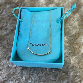Tiffany & Co. - ティファニー Tスマイル AU750 イエローゴールド ネックレス