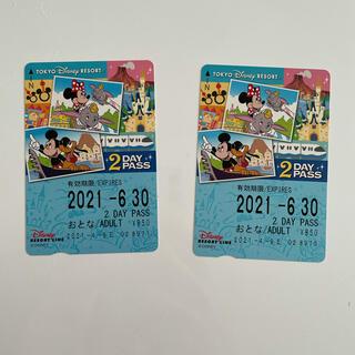 ディズニー(Disney)のディズニーリゾートライン 2dayパス(遊園地/テーマパーク)
