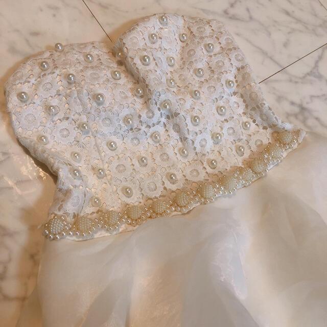dazzy store(デイジーストア)の最終値下げ デイジーストア レース パール ミニ レディースのフォーマル/ドレス(ミニドレス)の商品写真