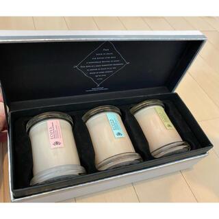 【希少】ECOYA(エコヤ)高級 キャンドル 大豆由来 3個セット 箱入り(キャンドル)