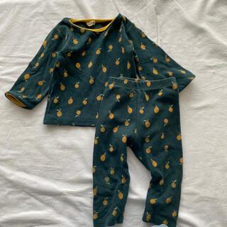 レモン柄 ルームウェア BLACKBEAN 韓国子供服 70 S(パジャマ)