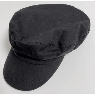 ジーユー(GU)のGU ジーユー キャスケット ワークキャップ キャスケット 帽子 黒 ブラック(キャップ)